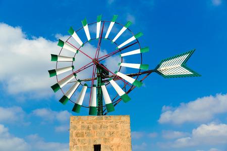 baleares: Mallorca Majorca windmill in Campos Balearic Islands of Spain