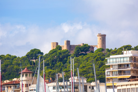 majorca: Palma de Majorca skyline with Bellver castle in Mallorca