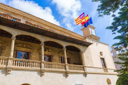 consulate: Mallorca Consulado de Mar beside Lonja in Palma of Majorca Balearic island at Spain
