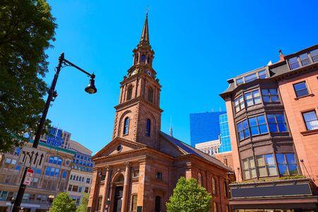 massachusetts: Boston Arlington Street Church in Massachusetts USA Stock Photo