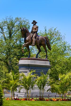boston common: Boston Common George Washington monument at Massachusetts USA