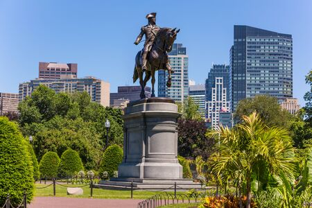 Monument Boston Common George Washington au Massachusetts