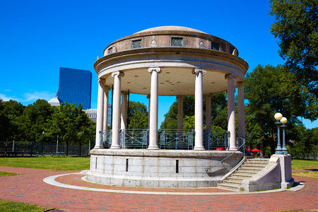 bandstand: Boston Common Parkman Bandstand in sunlinght at Massachusetts USA Stock Photo