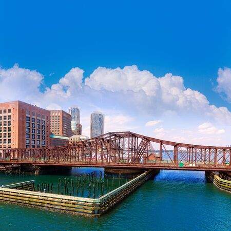 massachusetts: Boston Northern Avenue Bridge in Massachusetts USA