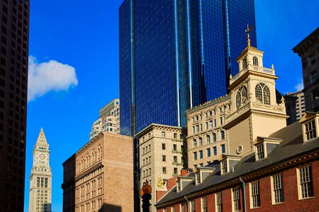 buiding: Boston Old State House buiding in Massachusetts  USA