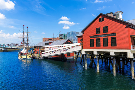 boston tea party: Boston Tea Party in Massachusetts USA