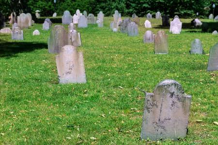 boston common: Boston Common Central Burying Ground in Massachusetts USA