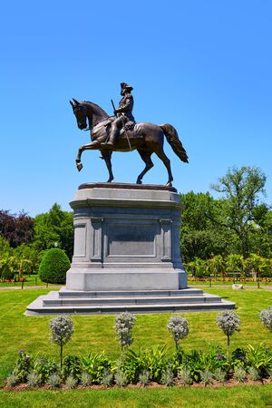 george washington: Monumento Boston Common George Washington en Massachusetts EE.UU.