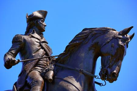 statue: Boston Common George Washington monument at Massachusetts USA