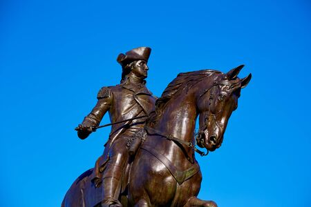 george washington: Boston Common George Washington monument at Massachusetts USA