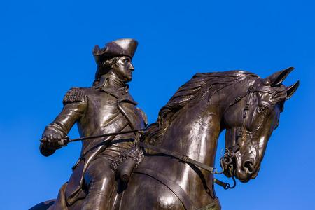 founding: Boston Common George Washington monument at Massachusetts USA