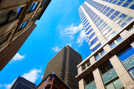 boston cityscape: Boston Massachusetts downtown buidings cityscape in USA Stock Photo
