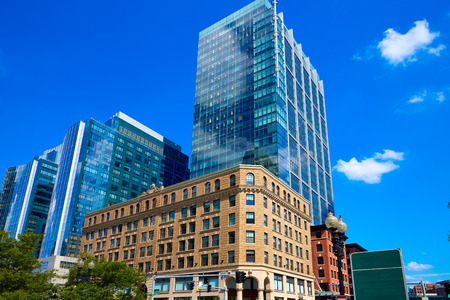 buidings: Boston Massachusetts downtown buidings cityscape in USA Stock Photo