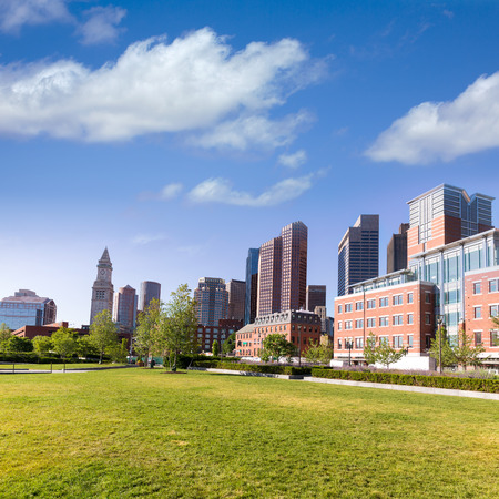 north end: Boston North End Park and slkyline in Massachusetts USA