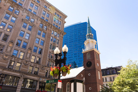 historic site: Boston Old South Meeting House historic site in Massachusetts USA Stock Photo