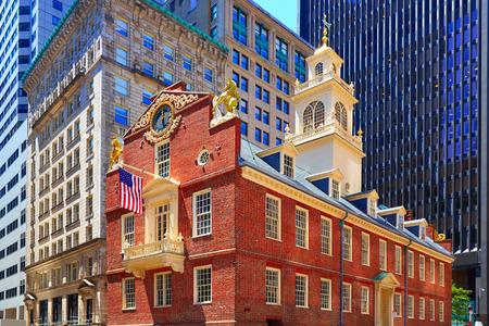 매사 추세 츠, 미국 보스턴 이전 상태 하우스 buiding는 스톡 콘텐츠