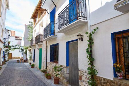 aras: Aras de los Olmos village street  in Valencia Spain