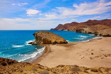 Plage Almeria Monsul Playa del Cabo de Gata en Espagne Banque d'images - 40717891