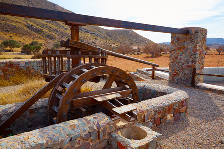 waterwheel: Almeria in Cabo de Gata Rodalquilar waterwheel traditional at Spain