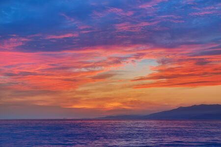 andalusian: Almeria Cabo de Gata sunset in Mediterranean sea of Spain