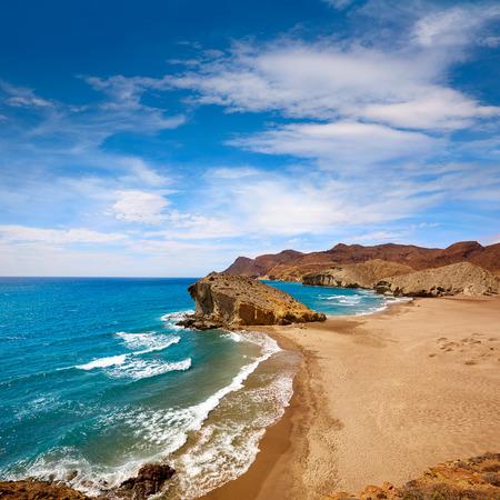 Almeria Playa del Monsul beach at Cabo de Gata in Spain