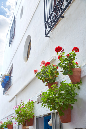 small details: Mojacar Almeria white Mediterranean village in Spain
