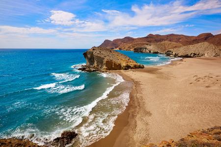 beaches of spain: Almeria Playa del Monsul beach at Cabo de Gata in Spain