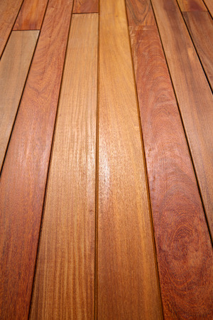 wood panel: Ipe teak wood decking deck pattern tropical wood texture background Stock Photo
