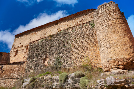 masonry: Canete in Cuenca Spain historical masonry wall