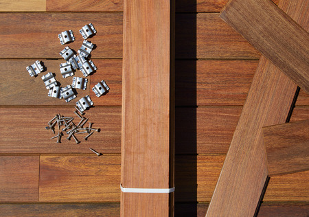 decking: Ipe decking deck wood installation screws clips and fasteners