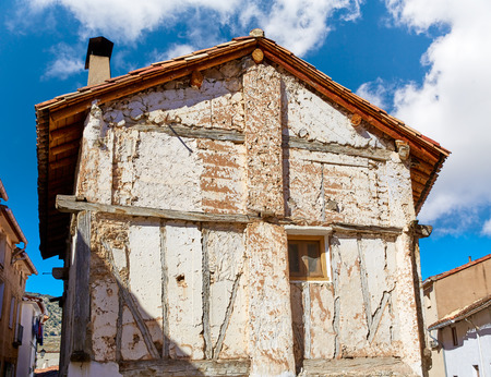 cuenca: Canete in Cuenca Spain old traditional contruction Stock Photo