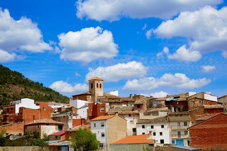 humo: Villar del Humo in Cuenca Spain village skyline Castilla la Mancha