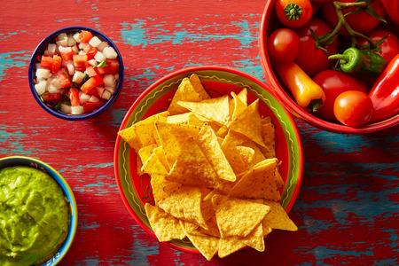 gallo: Nachos with guacamole pico de gallo sauce and chii peppers
