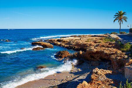 Denia Las Rotas Rotes Strand in Alicante Mittelmeer von Spanien