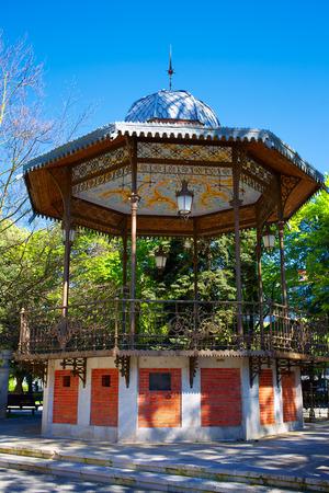 paseo: Burgos paseo espolon park templete in Castilla Spain Stock Photo