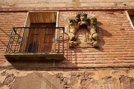rioja: Azofra in Saint James Way at La Rioja of Spain Stock Photo