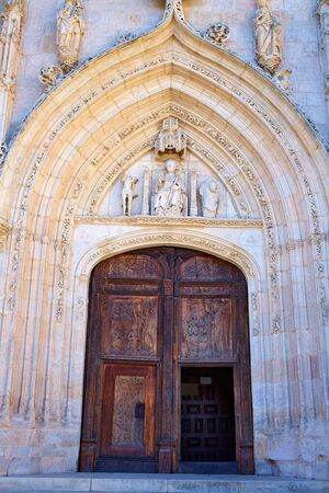 castilla: Burgos San Nicolas church door in Castilla Leon of Spain