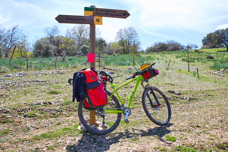 xacobeo: Way of Saint James from Atapuerca to Burgos sign by bike