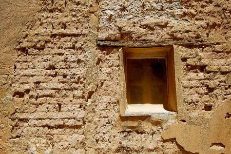 xacobeo: Castrojeriz adobe facades in the way of Saint James at Castilla Spain