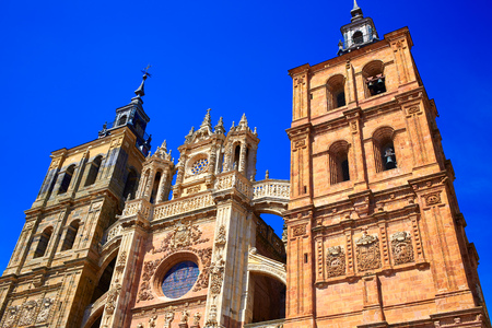 the french way: Astorga cathedral in Way of Saint James at Leon Castilla of Spain