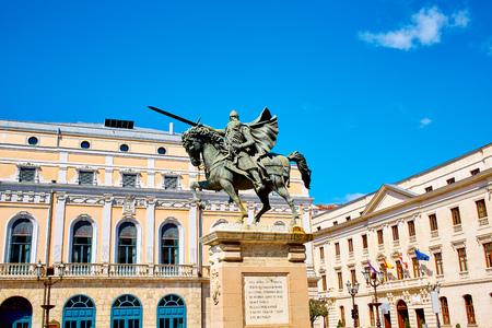 cid: Burgos Cid Campeador statue in Castilla Leon of Spain Stock Photo