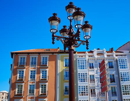 xacobeo: Burgos building facades in Castilla Leon Spain Stock Photo
