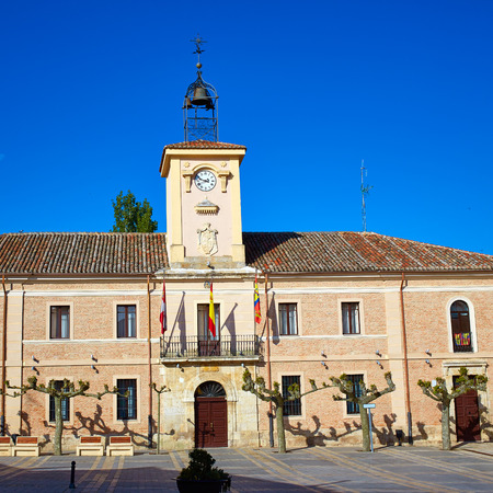 carrion: Carrion de los Condes city hall by Way of Saint James at Palencia Spain Stock Photo