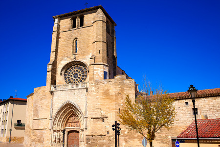 castilla: Burgos San Esteban church facade in Castilla Leon of Spain