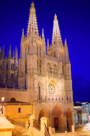 castilla: Burgos Cathedral facade in Saint James Way at Castilla Leon of Spain