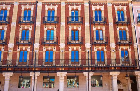 castilla leon: Burgos Plaza Mayor square in Castilla Leon of Spain Stock Photo
