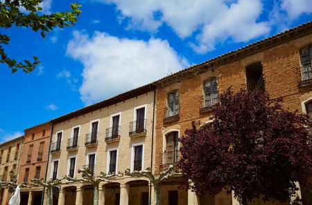 xacobeo: Castrojeriz arcades in the way of Saint James at Castilla Spain