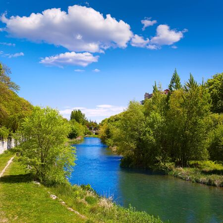 xacobeo: Burgos Arlanzon river in Castilla Leon of Spain