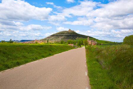 pilgrim journey: Castrojeriz in the way of Saint James at Castilla Spain