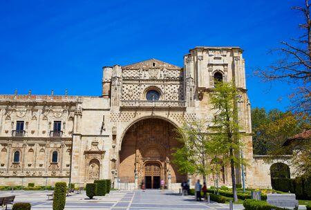 camino de santiago: San Marcos in Leon at the way of Saint James Castilla Spain